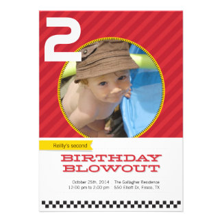 Blowout Children s Party Invitations - Racing Red