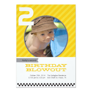 Blowout Children's Party Invitations - Gold