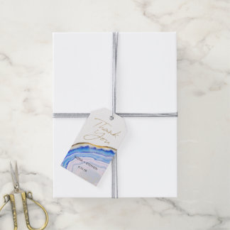 Blu Agate Favor Tags