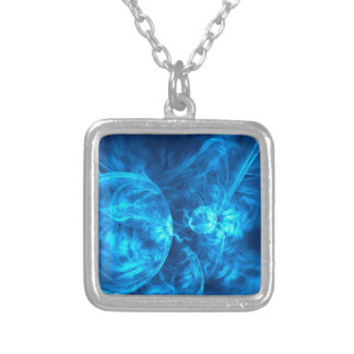 blu bubbles silver plated necklace