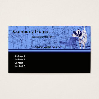 Blu Dog Grunge Business Card