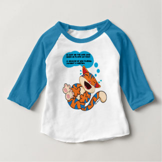 Blu The Cat Baby Raglan T-shirt