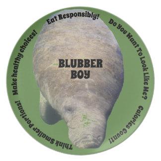 Blubber Boy Diet Plate Green