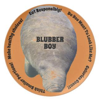 Blubber Boy Diet Plate Orange