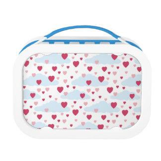 Blue Сloud Hearts Pattern Lunch Box