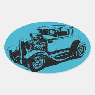 Blue 1931 5 Window Coupe Oval Sticker