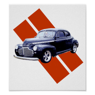 Blue 1941 Chevy Coupe Poster