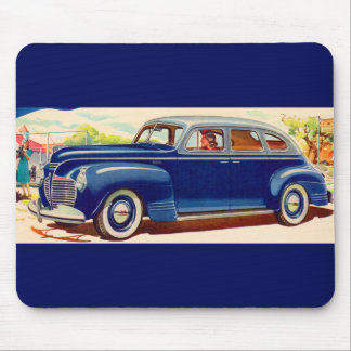 blue 1941 Plymouth Mouse Pad