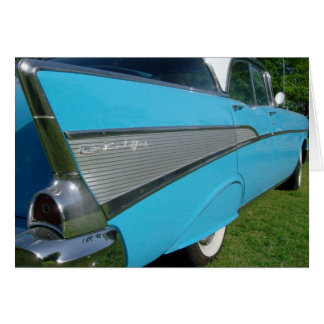 Blue 1957 Chevy Greeting Card