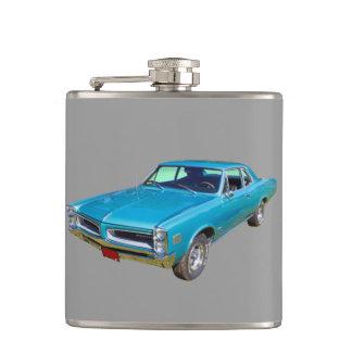 Blue 1966 Pontiac Le Mans Muscle Car Flask