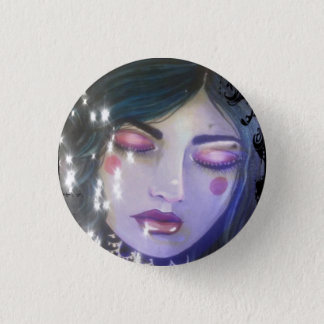 Blue 1 Inch Round Button
