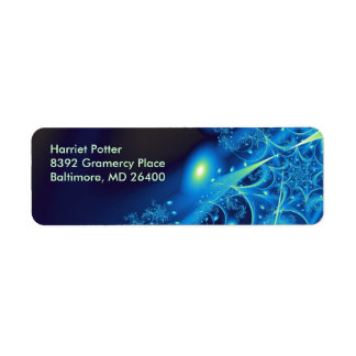 Blue 2 Abstract Art Return Address Label