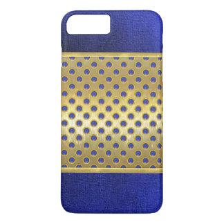 Blue 3D Circles Pattern Gold Slim Shell Case