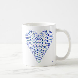 Blue 3D Heart Mug