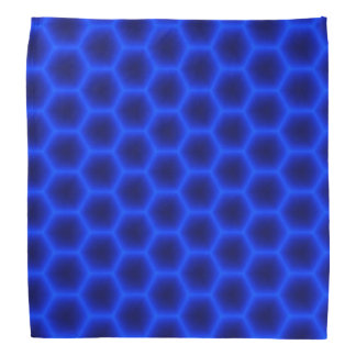 Blue 3D Honeycomb Bandana