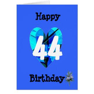 Blue 44th Age Birthday Card