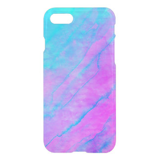 Blue 90s Street Art Graffiti Watercolor Stone iPhone 8/7 Case