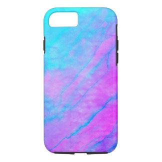 Blue 90s Street Art Graffiti Watercolor Stone iPhone 8/7 Case