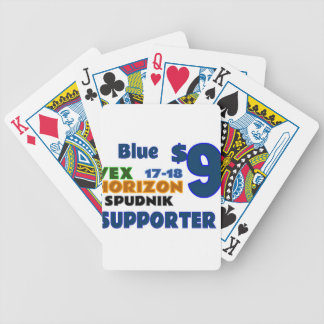 Blue ($9) bicycle playing cards