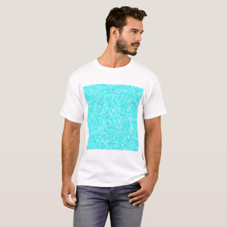 Blue abstact triangle pattern T-Shirt