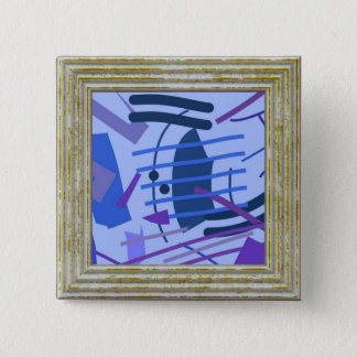 Blue Abstract 2 Inch Square Button