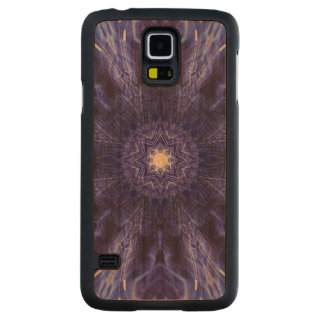 Blue Abstract Ancient Art Cherry Galaxy S5 Slim Case