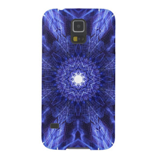 Blue Abstract Ancient Art Galaxy S5 Cases