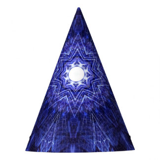 Blue Abstract Ancient Art Party Hat