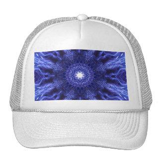 Blue Abstract Ancient Art Trucker Hat