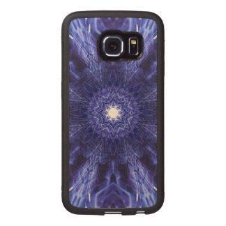 Blue Abstract Ancient Art Wood Phone Case