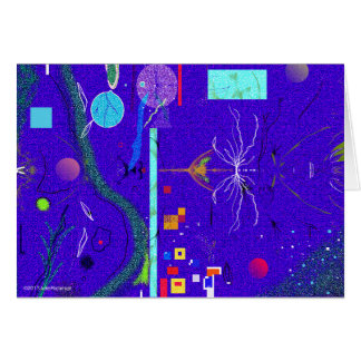 Blue Abstract and flower Sympathy Card