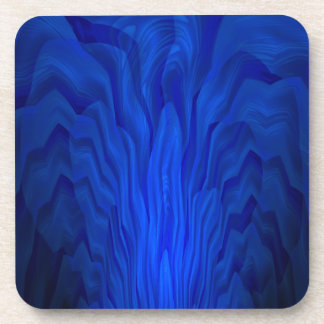 Blue Abstract Art Coaster