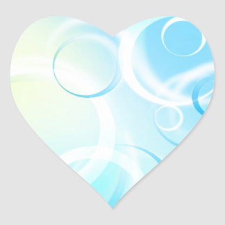 Blue Abstract Artwork Designs Heart Sticker