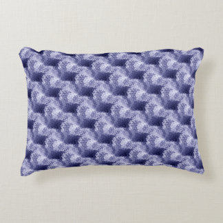 Blue Abstract Brush Texture Pattern Accent Pillow