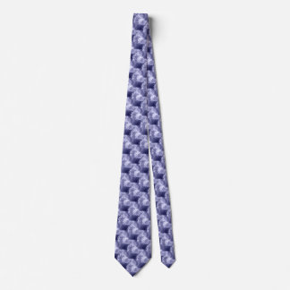 Blue Abstract Brush Texture Pattern Neck Tie