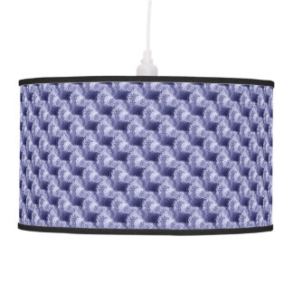 Blue Abstract Brush Texture Pattern Pendant Lamp