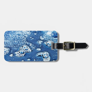 Blue Abstract Bubbles Water and Ice Luggage Tag