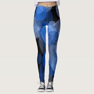 Blue Abstract Circle Leggings