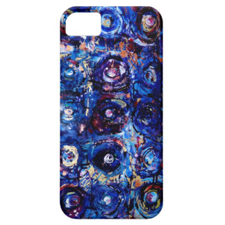 Blue Abstract Circles - Let's Get Lost iPhone 5 Case