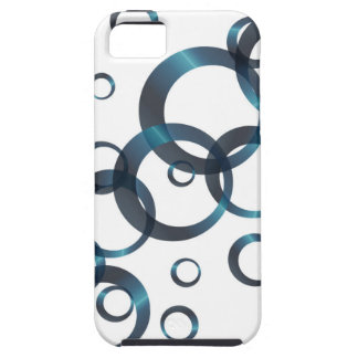 Blue Abstract Circular Background Case For The iPhone 5