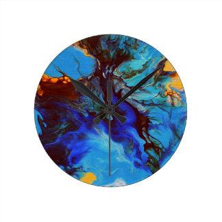 Blue abstract clocks