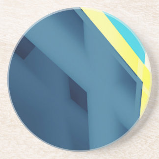 Blue Abstract Coaster