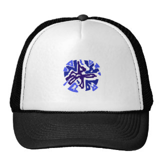 Blue abstract design by Moma Trucker Hat