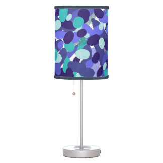 Blue Abstract Dots Table Light Table Lamp