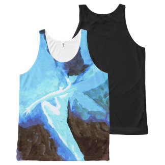 Blue Abstract Fairy All-Over-Print Tank Top