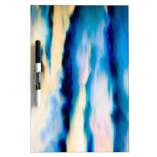 Blue Abstract Falling Water Dry Erase Boards