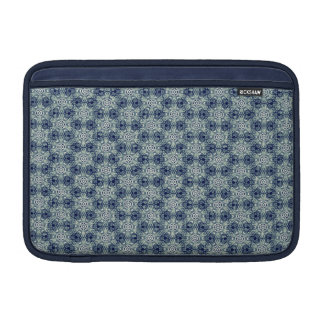 Blue abstract flower pattern case for Macbook Air MacBook Sleeve