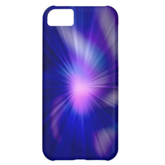 Blue abstract fractal light iPhone 5C case
