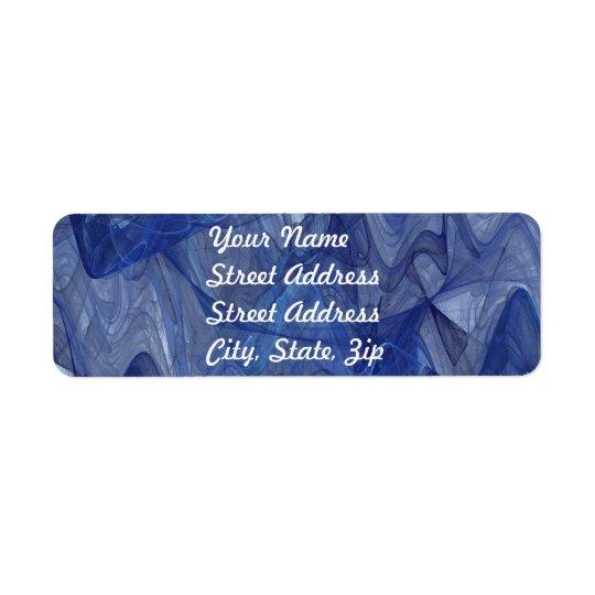 Blue Abstract Fractal Return Address Sticker