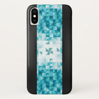 Blue Abstract Geometrical Background Template iPhone X Case